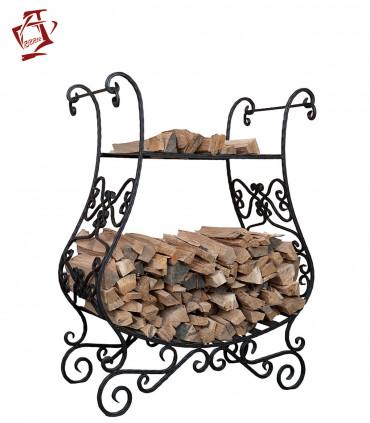 Amphora / Amfora Tandoor Brennholzregal Holzlager geschmiedet
